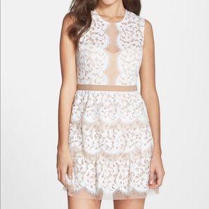 BCBG White Lace Sophea Dress Size 4